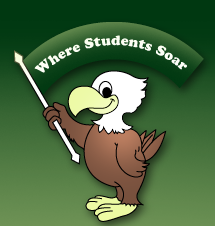 Owl holding banner reading 'Where Students Soar'